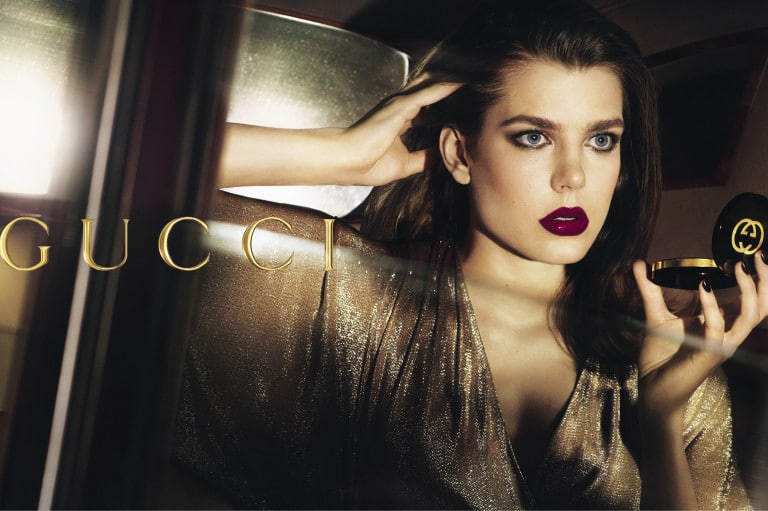 Charlotte as a face of Gucci makeup