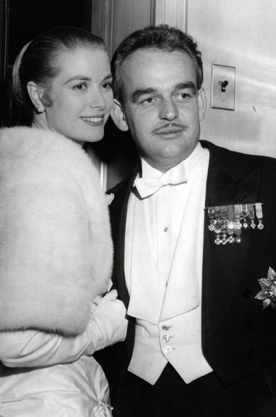Prince Rainier III with Grace Kelly