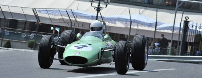 Historic racing car on the track of Monaco