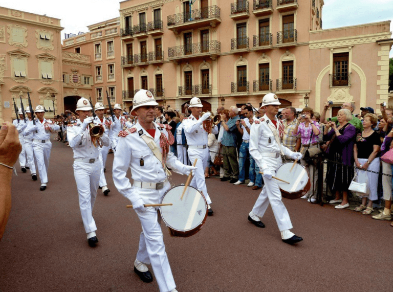 Les Carabiniers du Prince at the celebration in Monaco