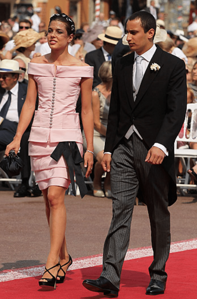 Charlotte at the wedding of Charlene and Prince with her boyfriend Alex Dellalom