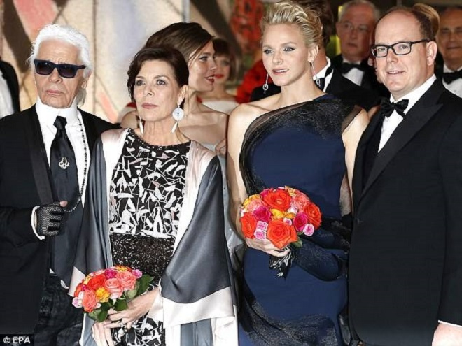 Princely family and Karl Lagerfeld at the Ball