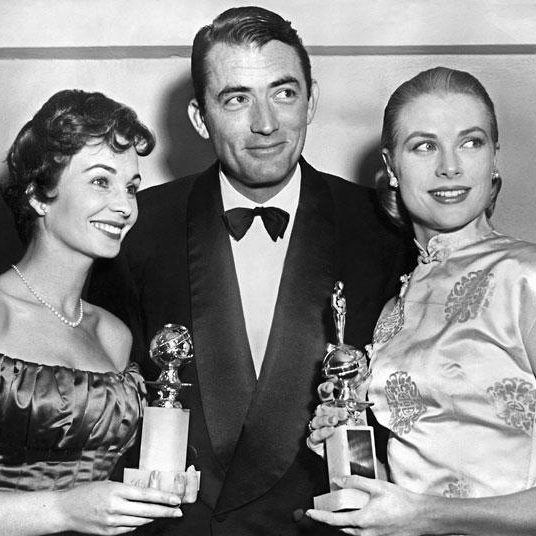 """Grace Kelly and her colleagues at the presentation of """"Oscar"""""""