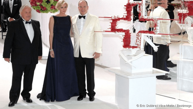 Prince Albert of Monaco with Princesse Charlene