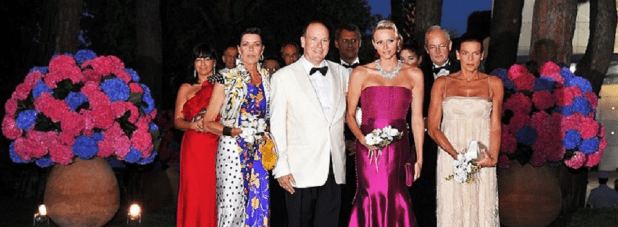 Princely family at the Red Cross Ball