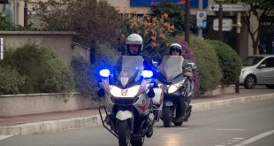 Police officers of Monaco on bikes