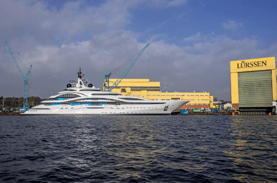 Project Jupiter hits the water at Lurssen