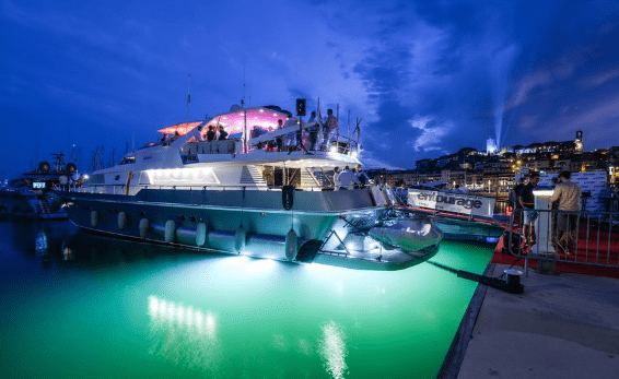 chartering a superyacht to act as the local headquarters
