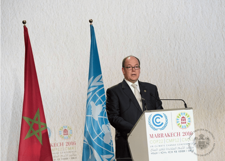 Prince Albert discusses Climate Change in Marrakech