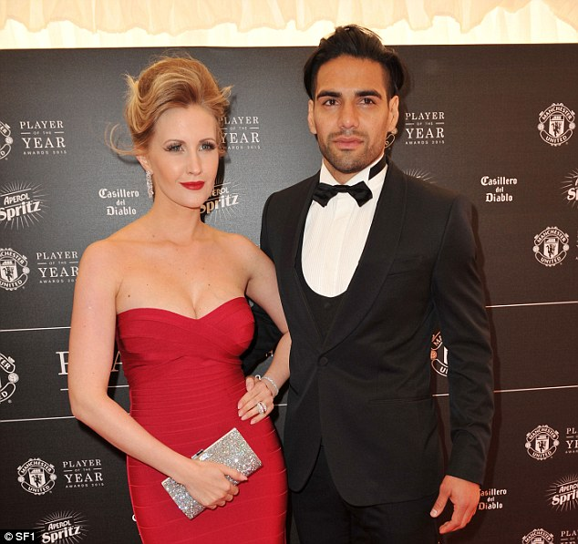 Radamel Falcao and his wife