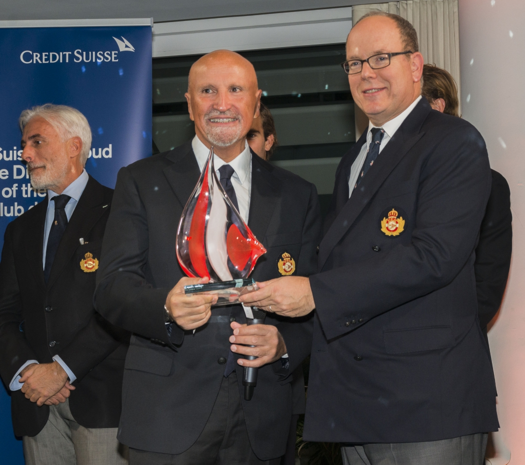 HSH Prince Albert II and Vincenzo Onorato at YCM Awards