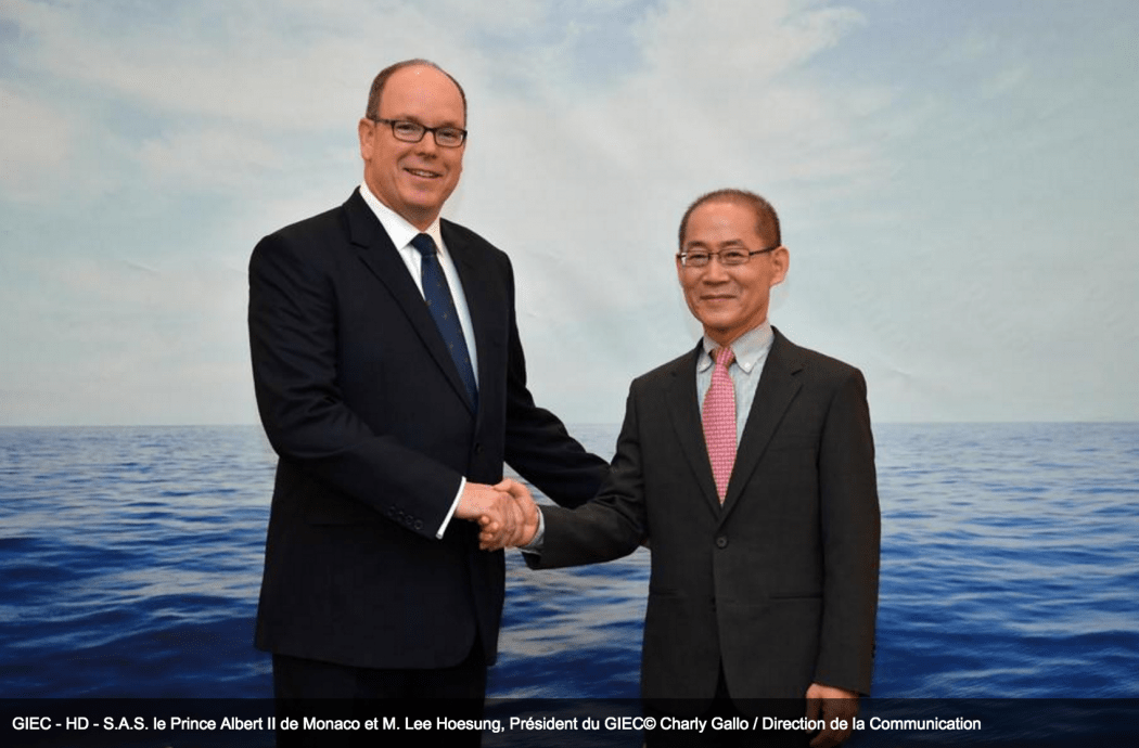 Prince Albert and Lee Hoesung