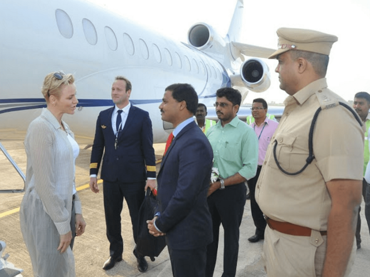 Princess Charlene visits, India