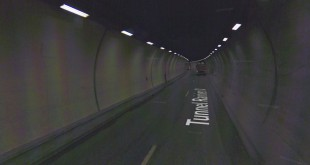 a U-turn right inside of the Rainier-III tunnel