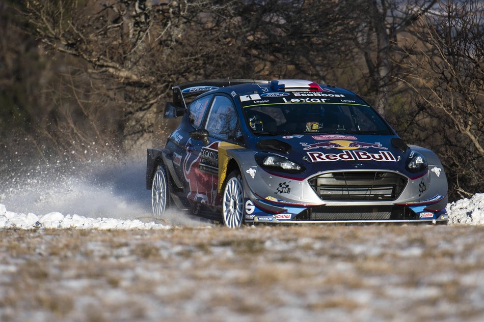 Sebastien Ogier on the Ford Fiesta
