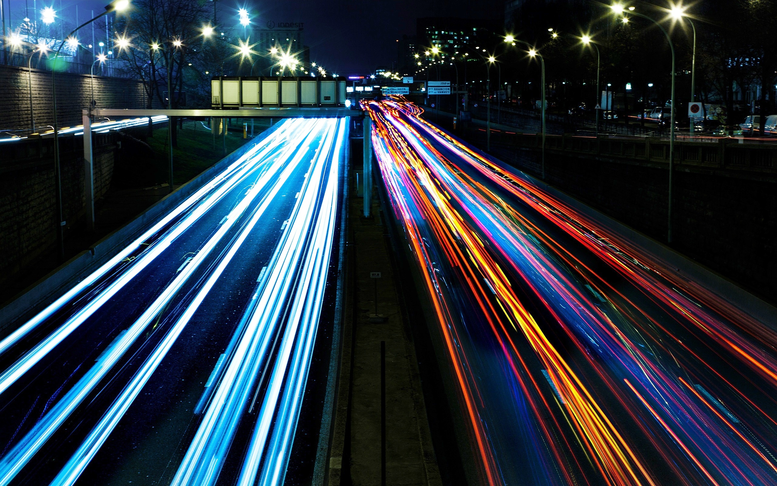 traffic at night by - photo #4
