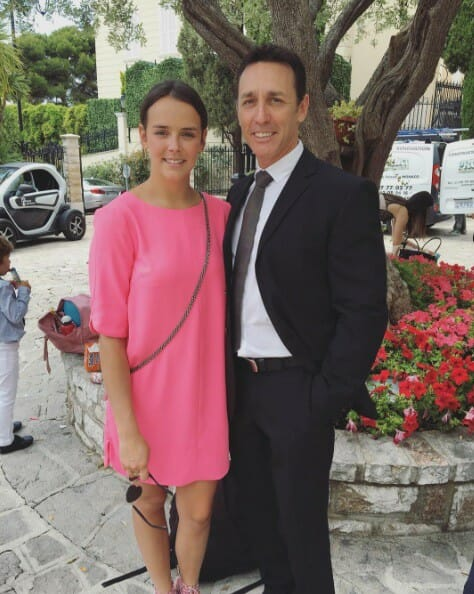 Pauline Ducret with her father Daniel Ducruet