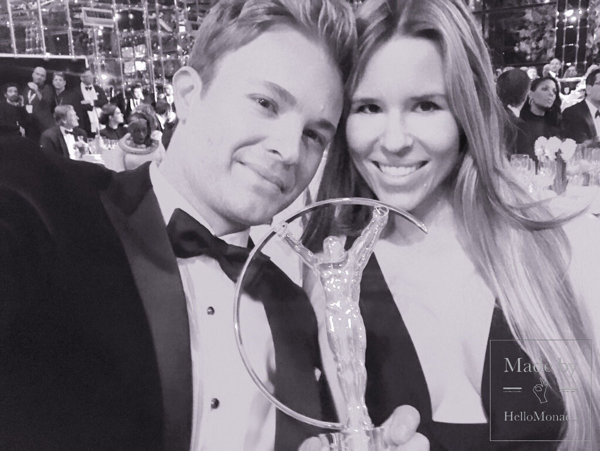 Nico Rosberg with his wife