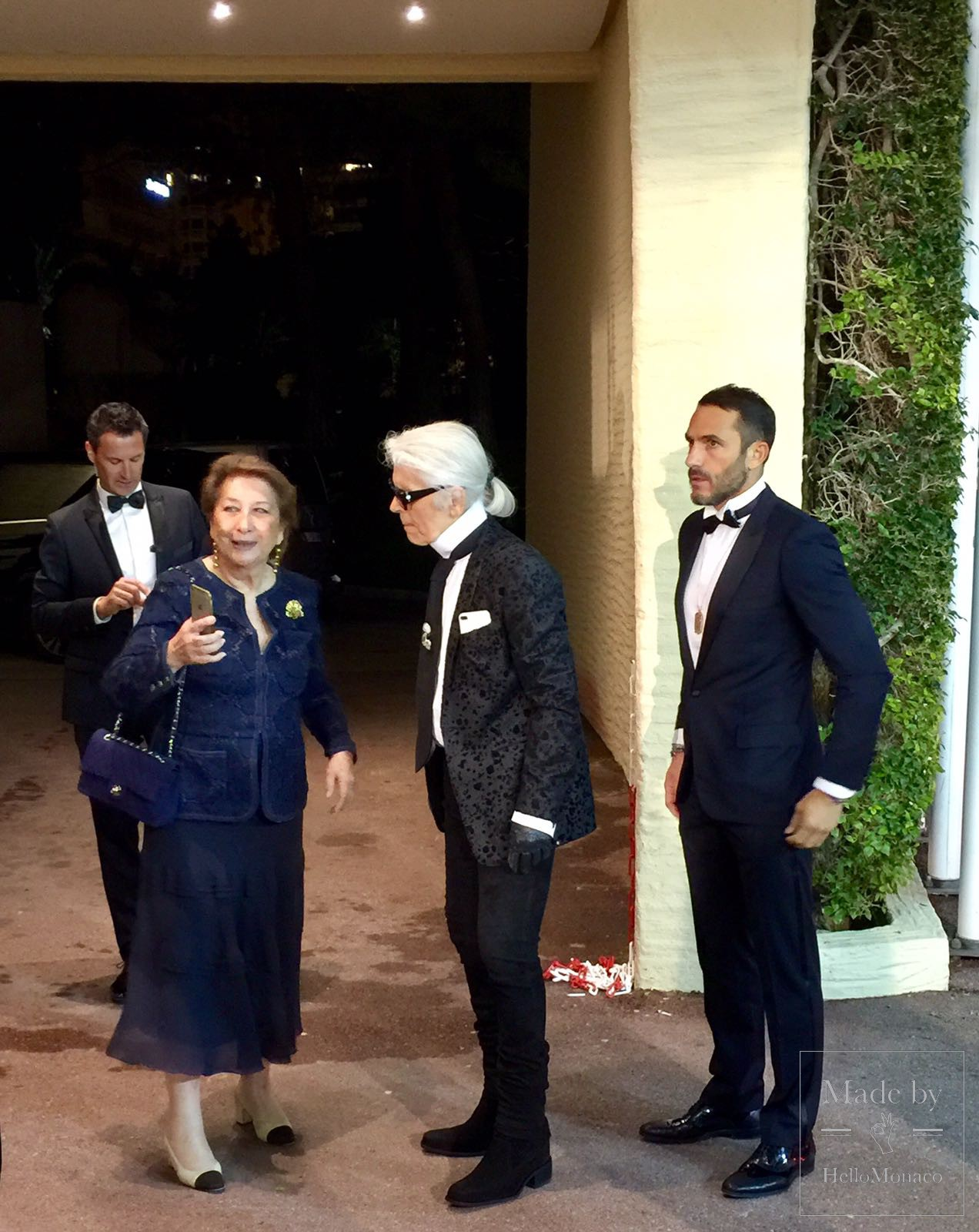Karl Lagerfeld at the Rose Ball 2017