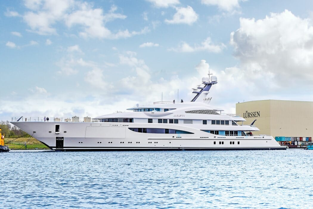 85m Areti launched by Lurssen