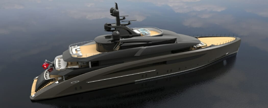 62m superyacht under construction at CRN