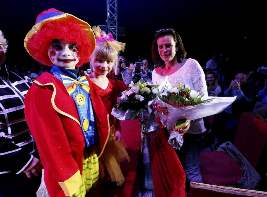 Princess Stephanie at the Circus School