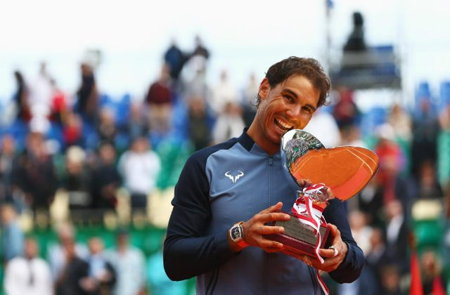 Rafael Nadal with the 9th Monte-Carlo trophy.