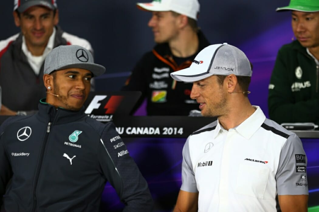Lewis Hamilton and Jenson Button in 2014 (Getty)
