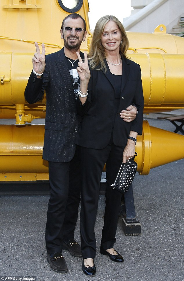 Ringo Starr with his wife.