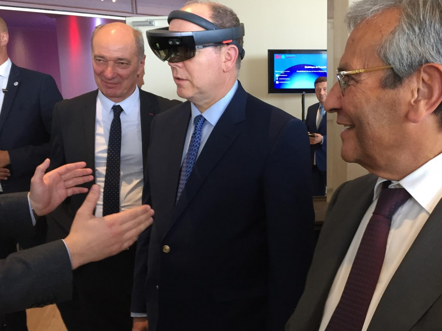 Prince Albert II tried the HoloLens