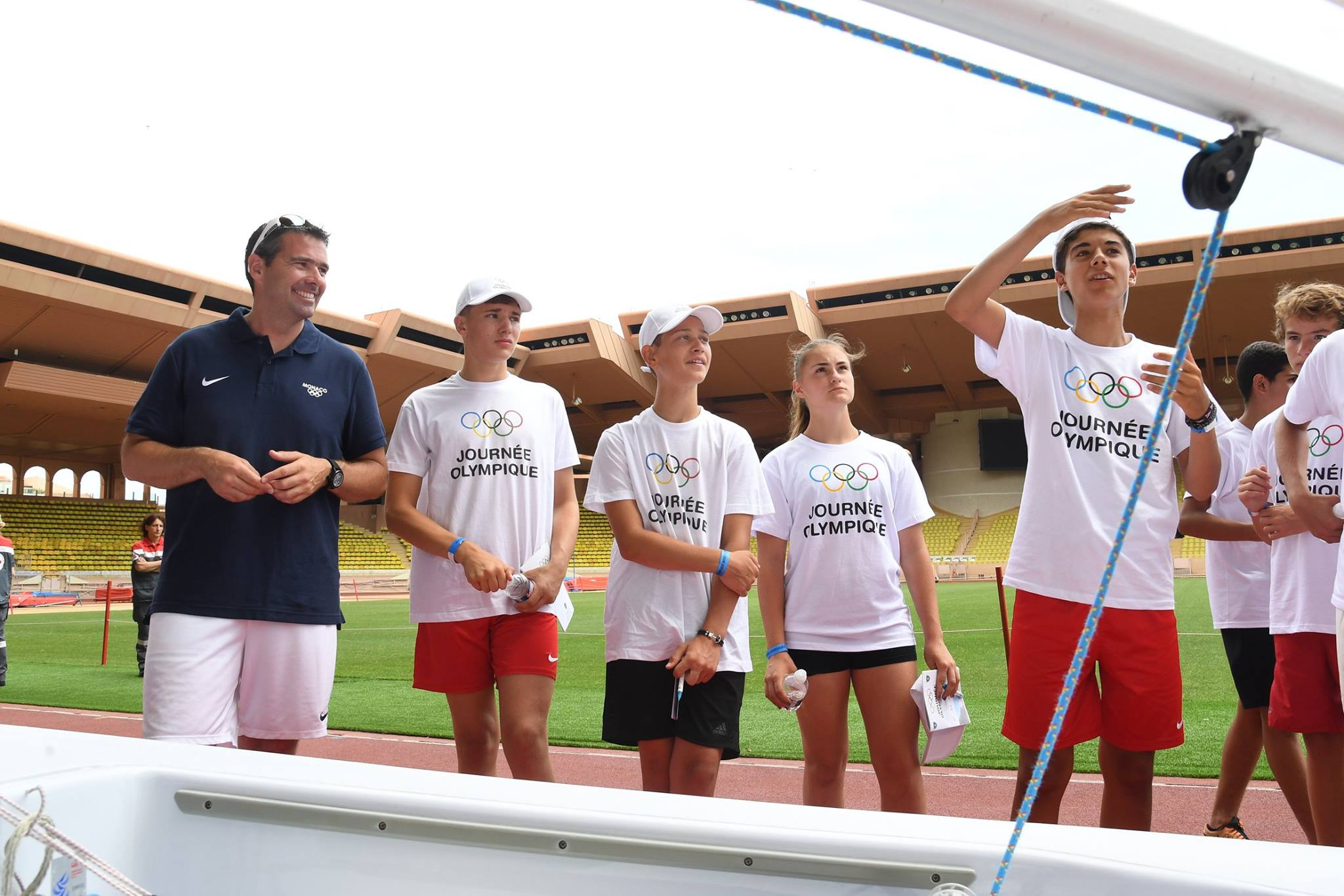 Olympic Day: Prince Albert II and young athletes