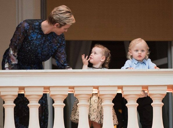 Princess Charlene, Princess Gabriella and Prince Jacques at St. John's Day Festival