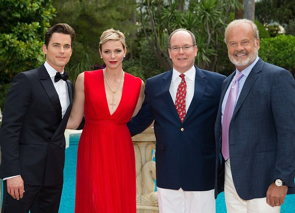 Princess Charlene and Prince Albert hosted a reception for FTV