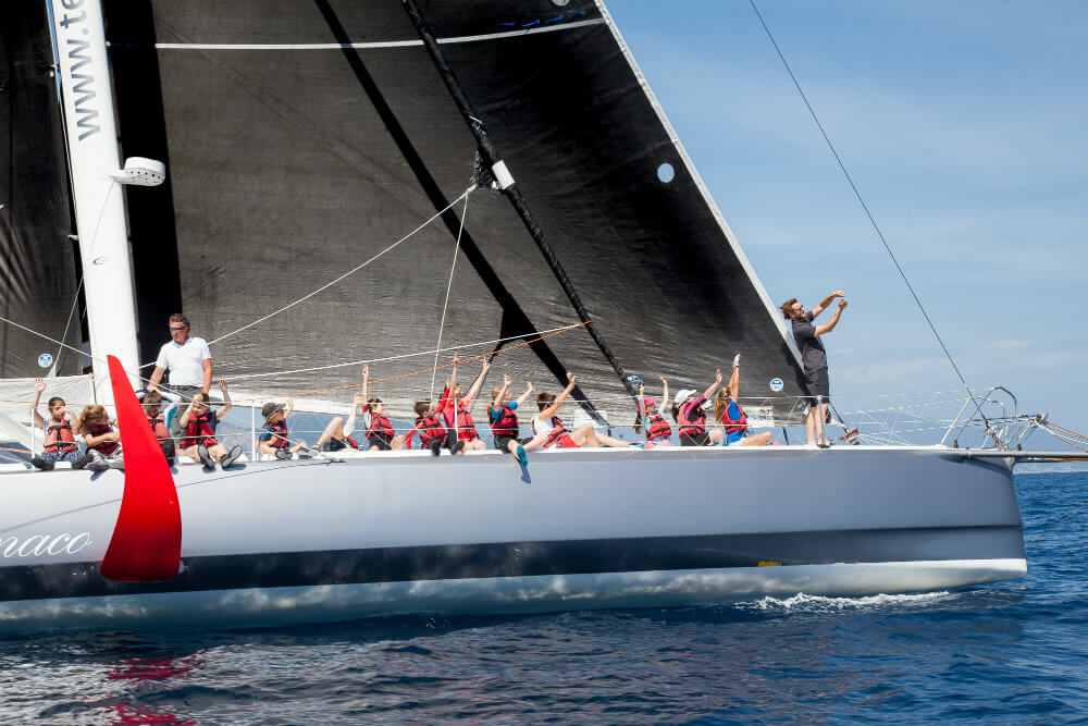 Pierre Casiraghi with youth Yacht Club