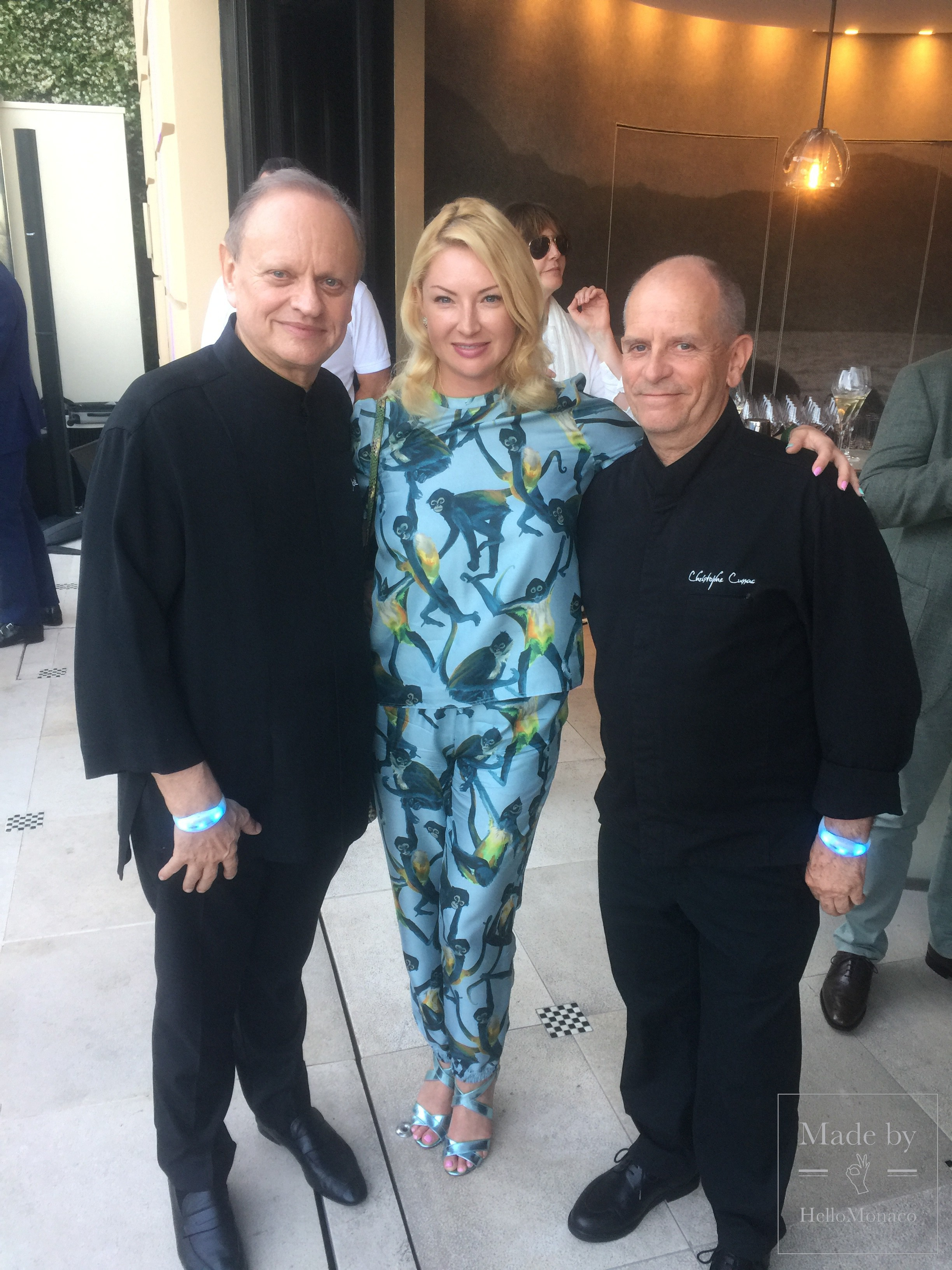 Joël Robuchon, Olga Taran and Heinz Beck