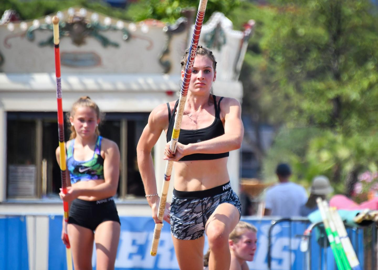 Pole vaulting demonstration