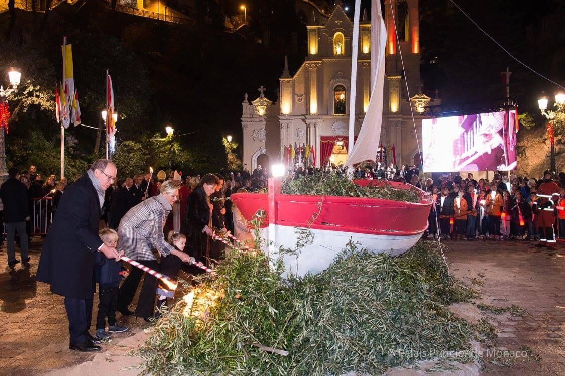 Princely Family attends Saint Devote Celebrations