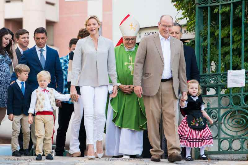Prince Albert, Charlene and their children