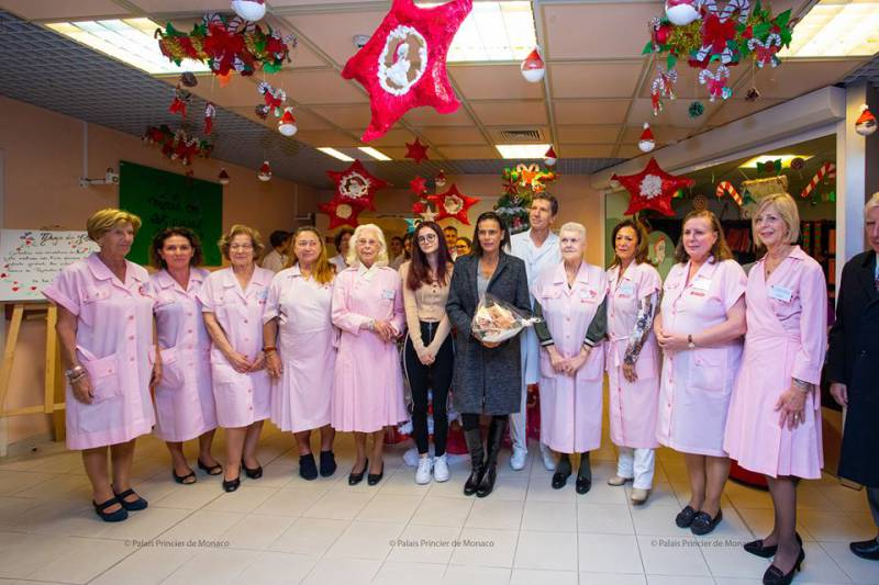 Princess Stephanie gives out Gifts at CHPG and Rainier III Centre