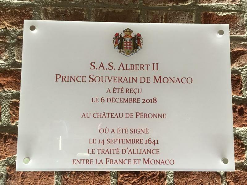 Prince Albert visits Peronne