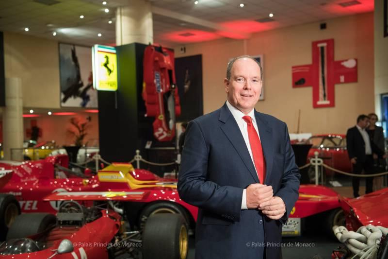 Prince Albert inaugurates Ferrari Exhibition