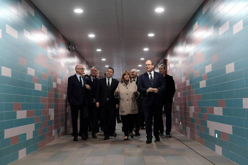 Monaco Station pedestrian underpass