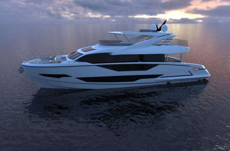 Superyacht Project 8X unveiled at Sunseeker