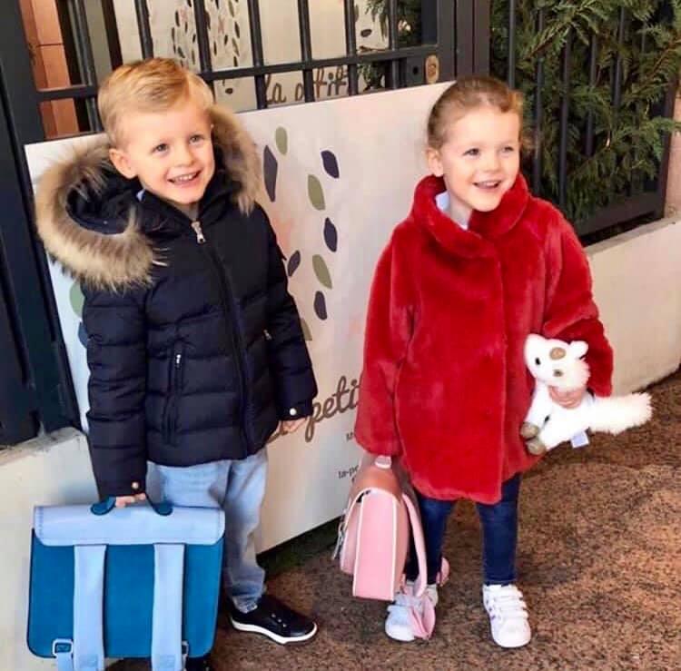 Princess Gabriella and Crown Prince Jacques go back to school