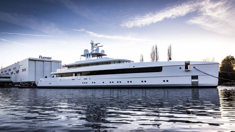Feadship launches 58-meter Najiba