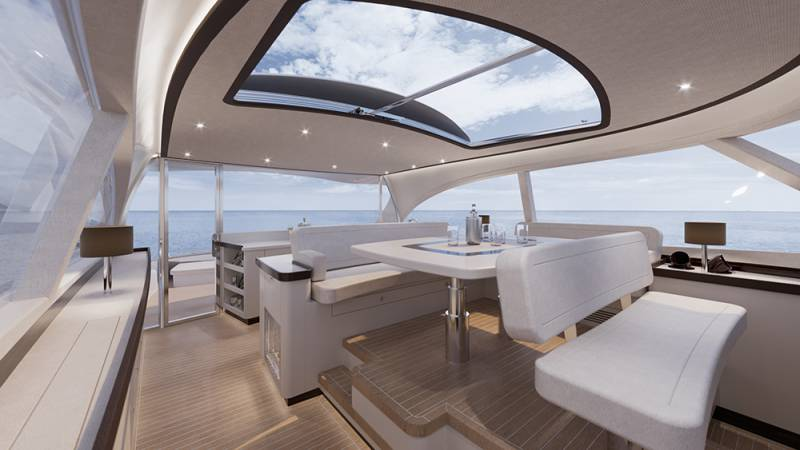 Zeelander Z72 a close look at the new 22-meter flagship. Design inspired by Porsche