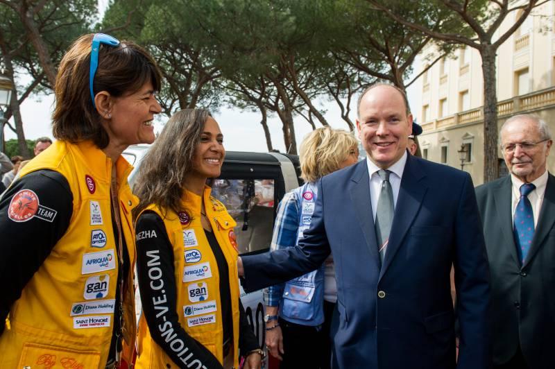 Prince Albert launches Rallye des Gazelles