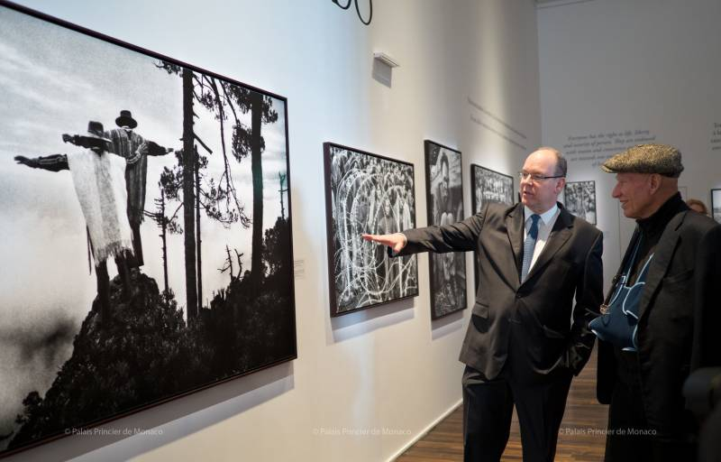Prince Albert attends Human Rights Photography Exhibition