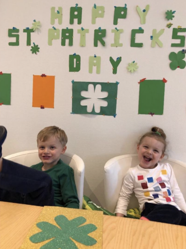 Jacques and Gabriella celebrate St Patrick's Day