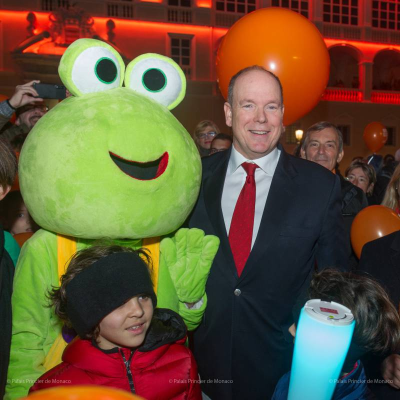 Prince Albert participates in 4th march for Pediatric Cancer